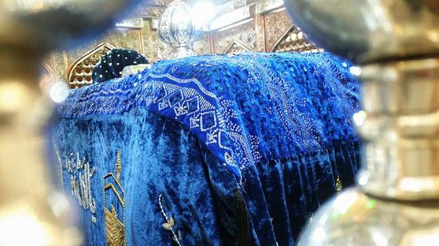 At the respected Mazaar Shareef of Hazrat Ghaus e A'zam Shaiekh Saiyyid 'Abdul Qaadir Jeelaanee (Radiyal Laahu 'Anhu)